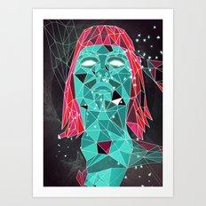 triangular stare Art Print