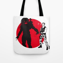 Predator Cartoon Style Tote Bag