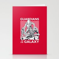 guardians of the galaxy Stationery Cards featuring Guardians by LilloKaRillo