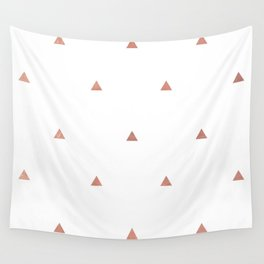 Rose Gold Triangles Wall Tapestry
