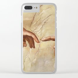 "Michelangelo ""Creation of Adam""(detail) Clear iPhone Case"