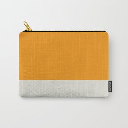 A fascinating compound of Dark Teal, Light Grey, Neon Tangerine and Medium Grey stripes. Carry-All Pouch