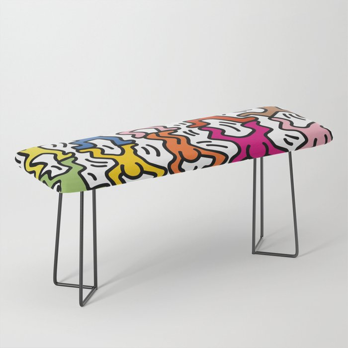 Homage to Keith Haring Acrobats II Bench