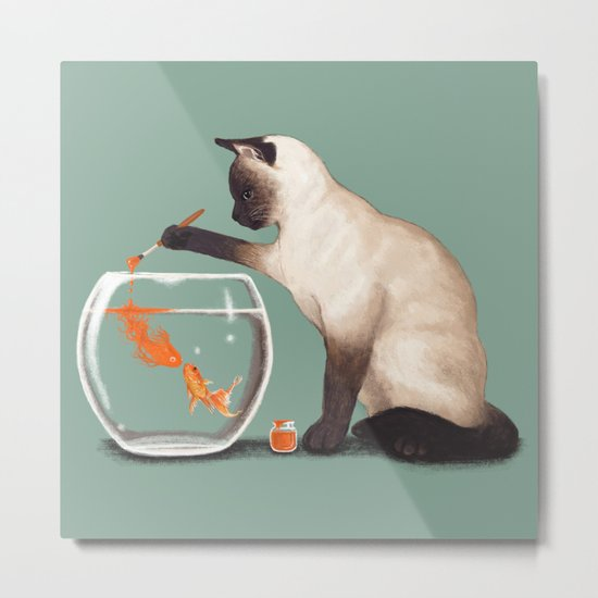 Goldfish need friend Metal Print