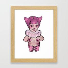 Clown Girl Torso Framed Art Print