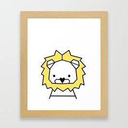 Lion, geometric lion, Animal, Minimal, kids, modern art,Trendy decor, Nursery, Interior, Wall art, Framed Art Print