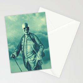 Lord Bonehead VINTAGE GREEN / Skeleton portrait Stationery Cards