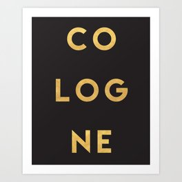 COLOGNE GERMANY GOLD CITY TYPOGRAPHY Art Print