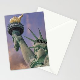 NEW YORK CITY Statue of Liberty at sunset Stationery Cards