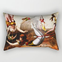 Vintage Circus Trapeze Act Rectangular Pillow