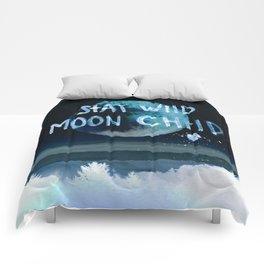 Stay wild moon child (dark) Comforters