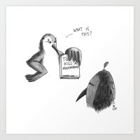to kill a mockingbird Art Prints featuring KILL A MOCKINGBIRD by Stupid Little Squares