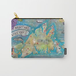 """Official Martha's Vineyard """"Outsiders"""" Map Carry-All Pouch"""
