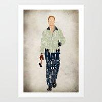 ryan gosling Art Prints featuring Ryan Gosling by Ayse Deniz