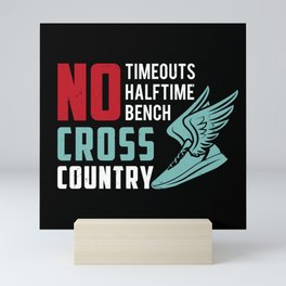 Cross Country Runner Cardio Fitness Running Cross-Country Racing Racer Gift Idea Mini Art Print