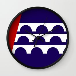 Des Moines city flag united states of america Iowa Wall Clock