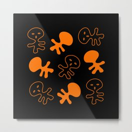 Aliens-Orange Metal Print