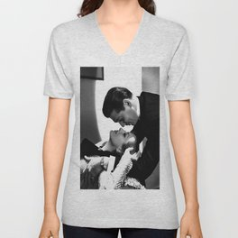 Clark Gable Romantic Retro Vintage Art Unisex V-Neck