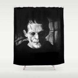 THE MONSTER of FRANKENSTEIN - Boris Karloff Shower Curtain