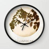 grateful dead Wall Clocks featuring Grateful by Sandra Arduini