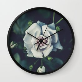FLOWER - ROSE - WHITE Wall Clock