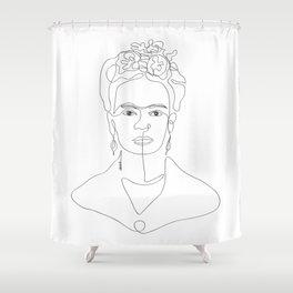 Doña Frida Kahlo Shower Curtain