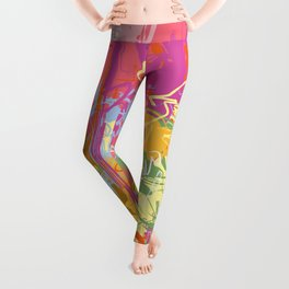 Flow | Pastel Abstract Art | Abstract Art Print Leggings
