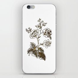 Golden flower iPhone Skin