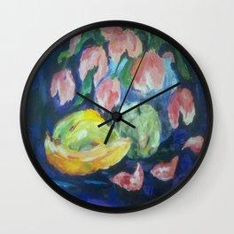 still life with bananas Wall Clock