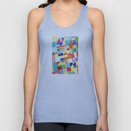 Playful Colorful Architectural Pattern Unisex Tank Top