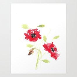 Red Poppies Art Print