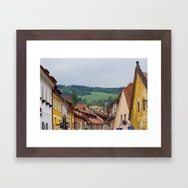 Cesky Krumlov Scenery Framed Art Print
