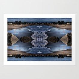 Quattro gratitude geometry II Art Print