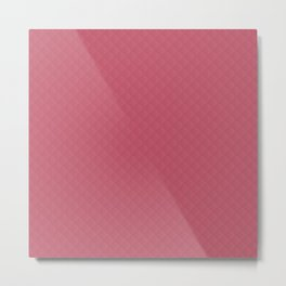 Classic Nantucket Red Puffy Stitched Quilt Metal Print