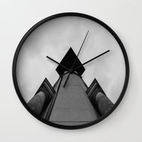 building Wall Clocks featuring Building  by Alyssa Gioia