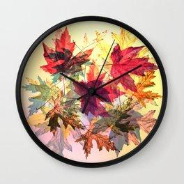 fallen leaves III Wall Clock