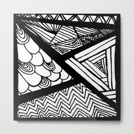 Zentangle #17 Metal Print