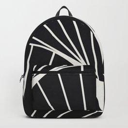 Diamond Series Round Sun Burst White on Black Backpack