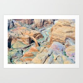 The Geological Gift of Rainbow Bridge Art Print