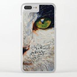 I Love You Cat Clear iPhone Case