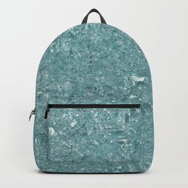 Teal, Terrazzo, Shiny Glass, Tile, Design Backpack