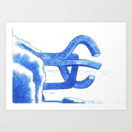 peine de los vientos Art Print
