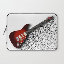 Musical Guitar Background Laptop Sleeve