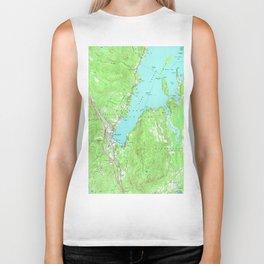 Vintage Map of Lake George New York (1966) Biker Tank