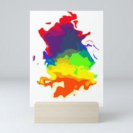 Rainbow Ink Blot 02 Mini Art Print