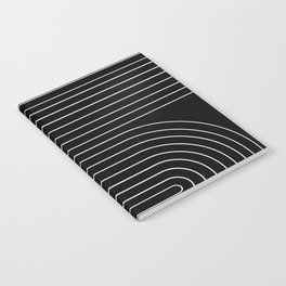 Minimal Line Curvature - Black and White II Notebook