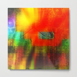 Spectrum Orange Metal Print