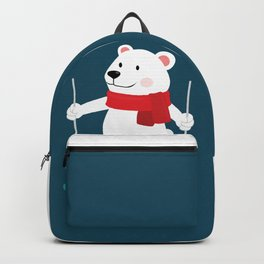 Lets Go Skiing with Mr Polar Bear this Merry Christmas Backpack
