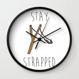 Slingshot Stay Strapped Wall Clock