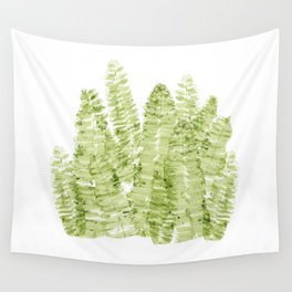 Fern Watercolor Wall Tapestry